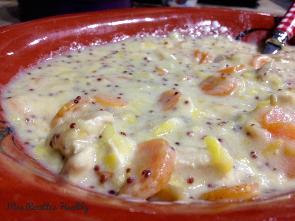 blanquette de poulet-recette-blanquette-poulet-moutarde