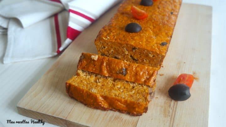 cake au thon-recette-cake-thon-son-avoine-tomate-olive-epice-proteine-dukan