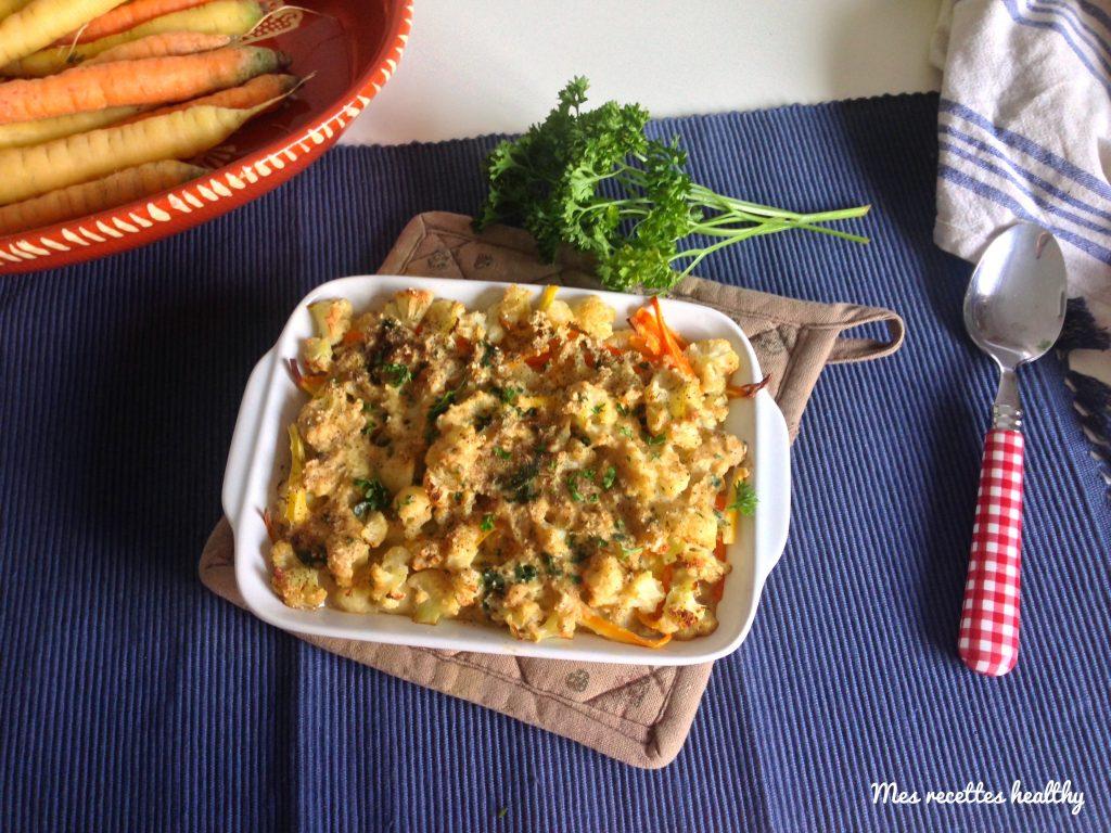 recette-gratin de chou fleur-carotte-avoine-gratinchou-choux-fleur-fleurs