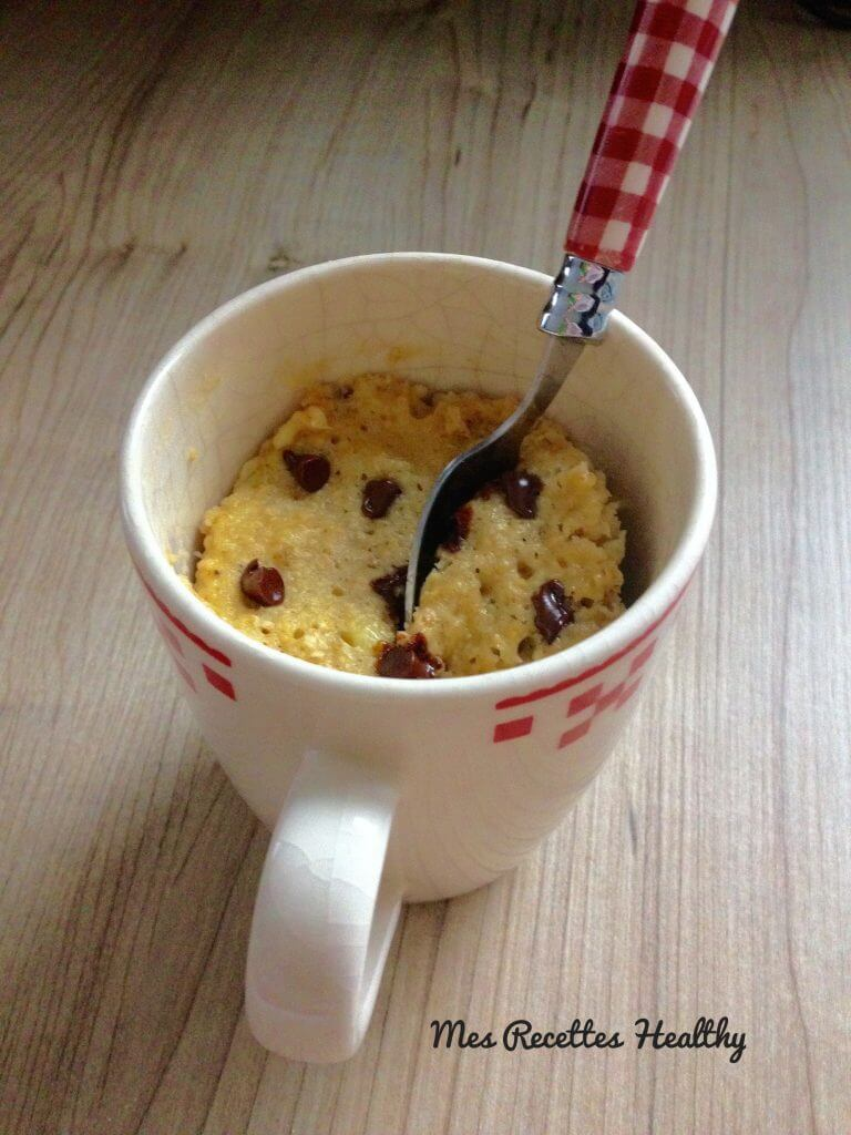 mug cake,chocolat,banane,