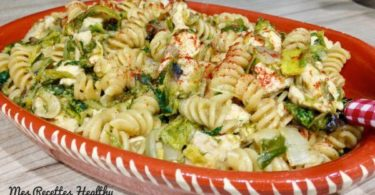 one pan pasta-poele-pate-poulet, pan, pasta,legume,legumes