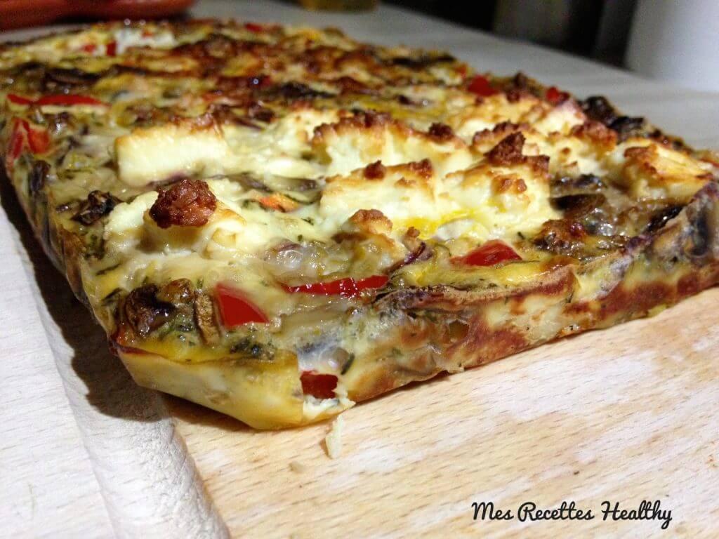recette-quiche sans pâte-healthy-quiche-feta-legume-fromage