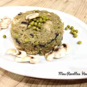 recette-risotto-hhealthy-leger-risotto poulet champignon-risotto au poulet