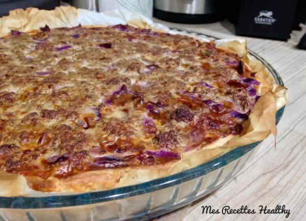 recette-choux rouge-tarte,chourouge,choux,rouge,poireau,steak