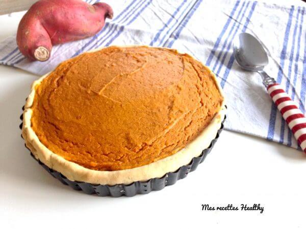 recette-legume-tarte à la patate douce-tarte-patate-douce