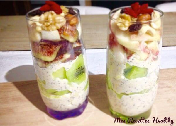 verrine-petit-dejeuner-flocon d'avoine-porridge-healthy