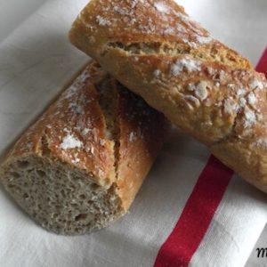 baguette,pain,sans pétrissage à l'avoine