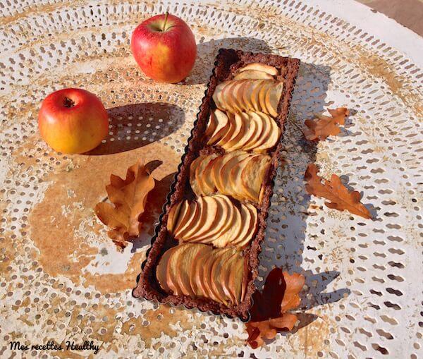recette-tarte sablée-fruit-tarte-pomme-amande-cacao-coco