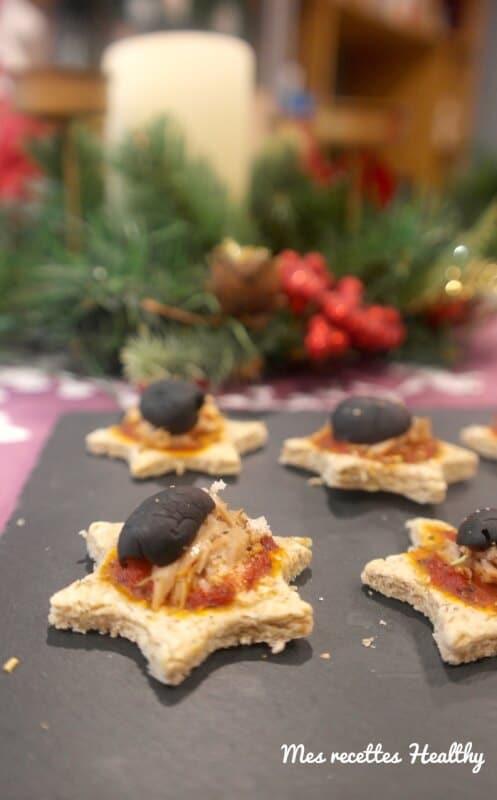 recette-noel-fete-canapé-pizza apéritive-pizza-thon-tomate-olive-avoine