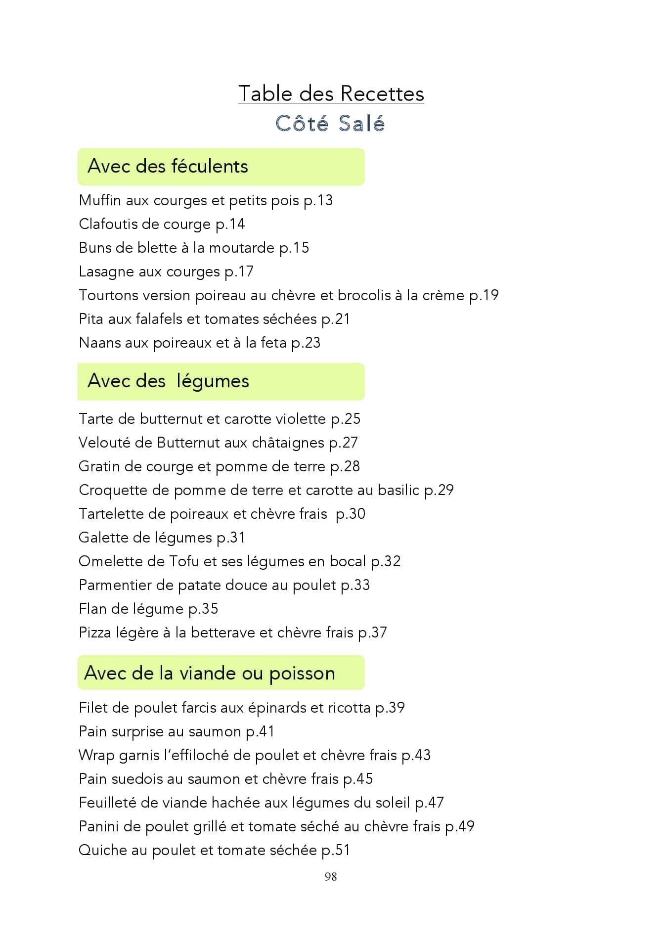 Ebook de 50 recettes saines sucrées salées
