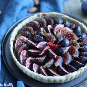 Tarte aux figues et crème d'amande sans lait