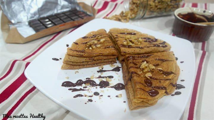 Crêpes sans oeuf à la vanille et chocolat au soja