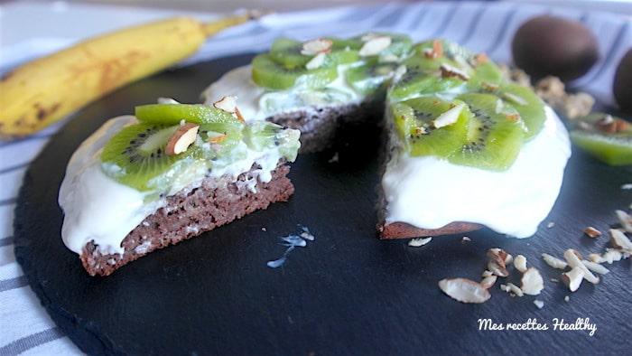 Gâteau moelleux banane et au cacao