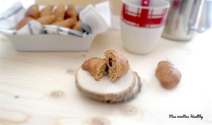 croissant brioche, croissant sans beurre, croissant healthy