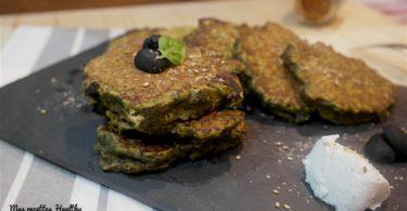 Galette de chou kale au chèvre frais et épices