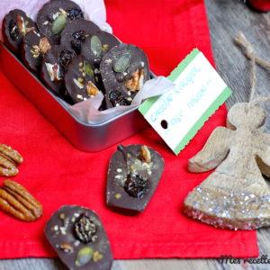 recette-chocolat à croquer-fruits secs-graines-cadeaux gourmands-noel