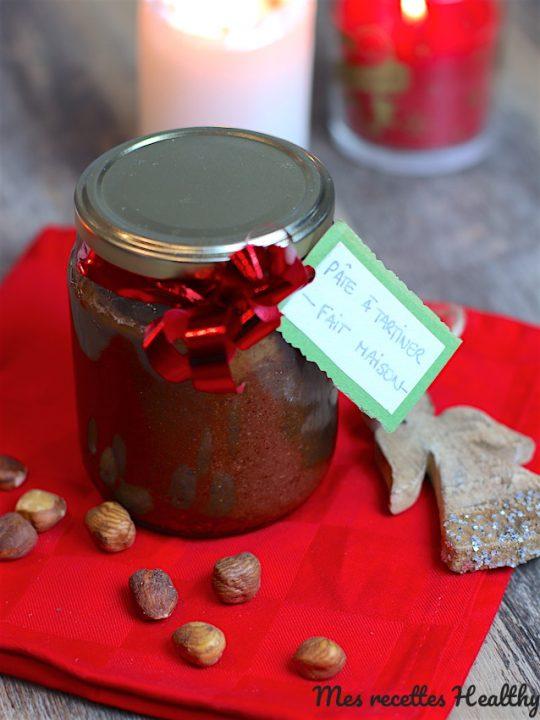 recette-cadeaux gourmands-noel-pâte à tartiner-chocolat-noisette-amande