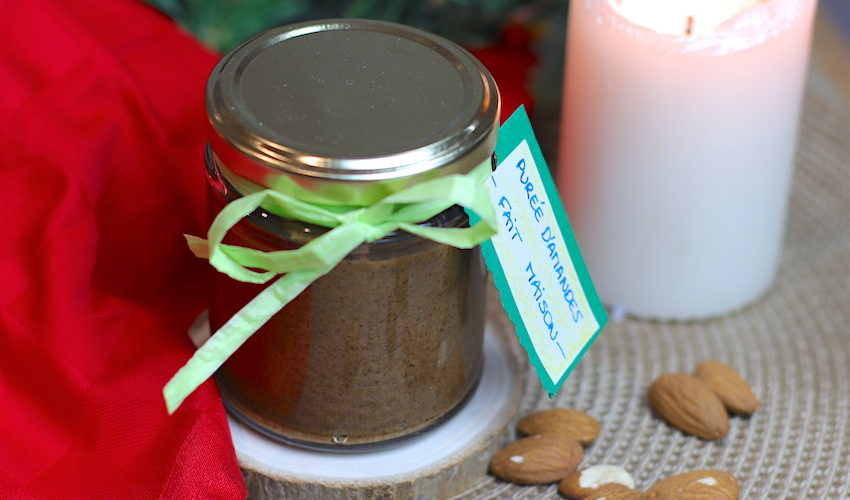 purée d'amande-recette-cadeaux gourmands-purée d'amande -recette-purée d'amande maison-oléagineux-fruit sec-puree-amande-amandes-healthy