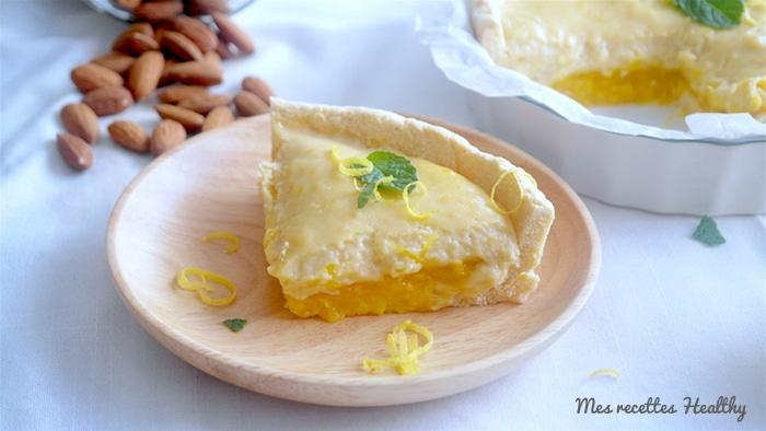 Tarte sablée sans gluten au citron et mangue
