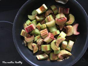 recette-rhubarbe-vanille-huile de coco-compote