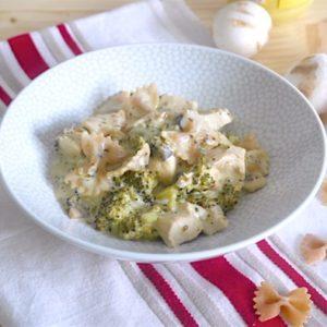 recette-plat-pate-pasta-complet-crème-poulet-champigonn-broclois-legume-moutarde-ail-basilic-