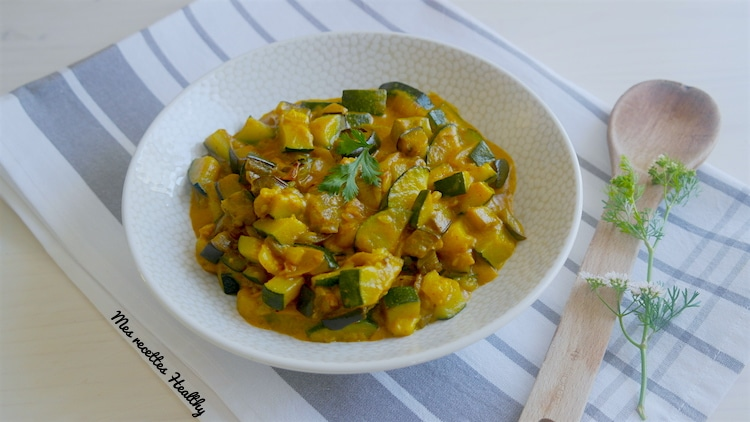 Curry d'aubergine et courgette