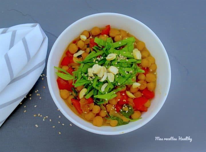curry de pois chiches-curry-recette-pois chiches-miel-epinards-coco-lait-paprika-cumin-miel