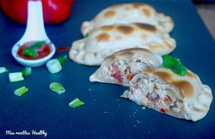 Empanadas de poulet et fromage frais