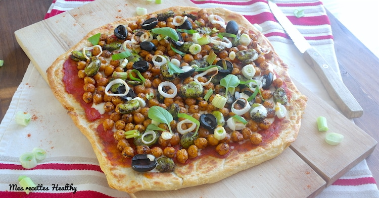 recette-naan-pizza-cheese-chevre-vegie-vegetarienne-pois chiches-