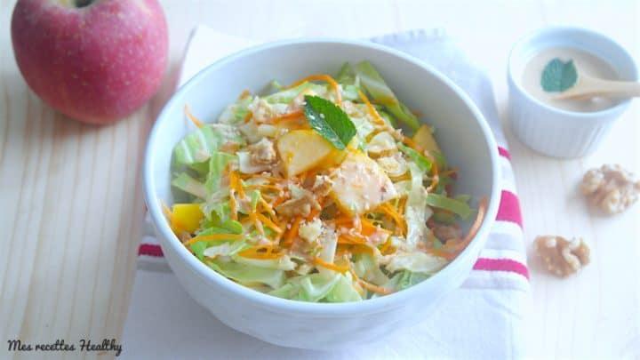 Salade de chou et fenouil aux pommes