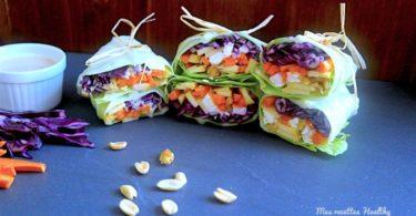Wraps détox aux légumes et sauce aux cacahuètes