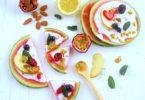 recette-pizza-pasteque-fruit-healthy-legere-salade-fruits-saison-ete-fraiche-cème de coco-pizza pastèque