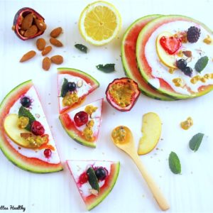 recette-pizza-pasteque-fruit-healthy-legere-salade-fruits-saison-ete-fraiche-cème de coco-pizza pastèque