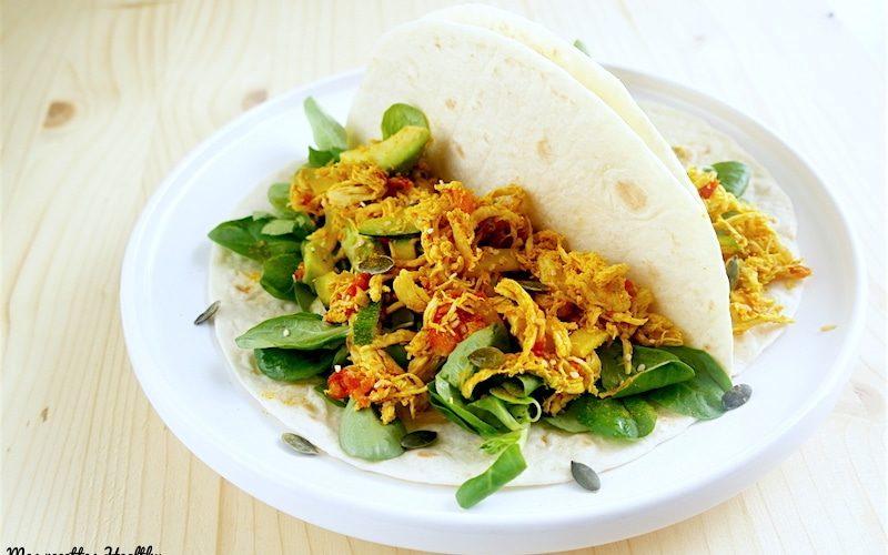 recette-tacos-tortillas-fajitas-tacos healthy-poulet-avocat-epice-tomate-courgette-legume-sesame-graine