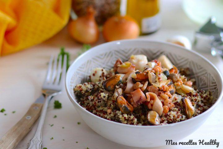 Frutti di mare et son trio au quinoa