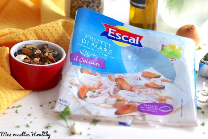 recette-escale-quinoa-trio quinoa-fruit de mer-calmar-crevette-coquillage