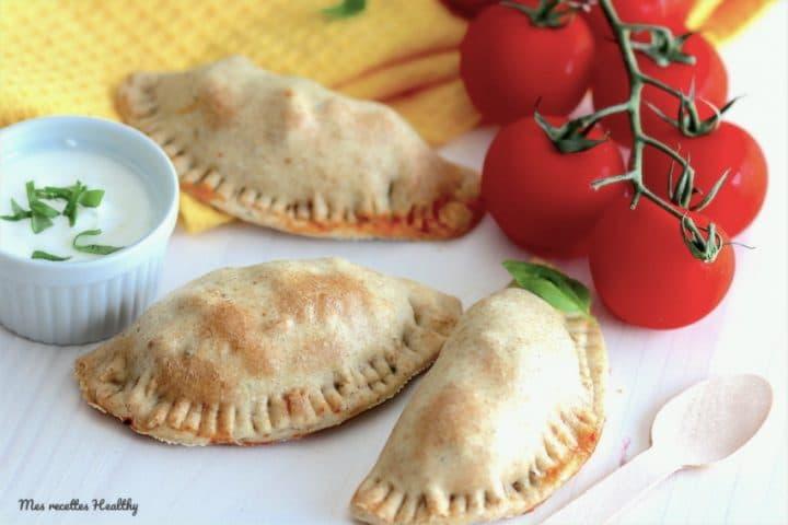 empanadas de poulet-recette-empanadas-chausson-chaussons-healthy-tomate-basilic-fromage-poulet-ail-champignon