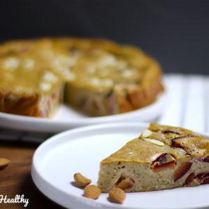 recette-gâteau-flan-far breton-prunes-prunes-fruit-saison-amande-sans lactose