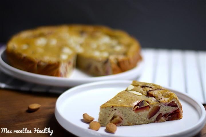recette, gâteau,flan, far breton, prunes, prunes,fruit,saison,amande,sans lactose,