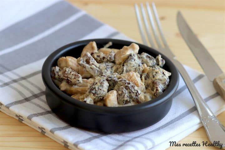 recette-poulet-volaille-morille-morilles-creme-champignon-healthy-cuisine
