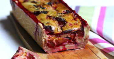 Tarte aux prunes comme un cake