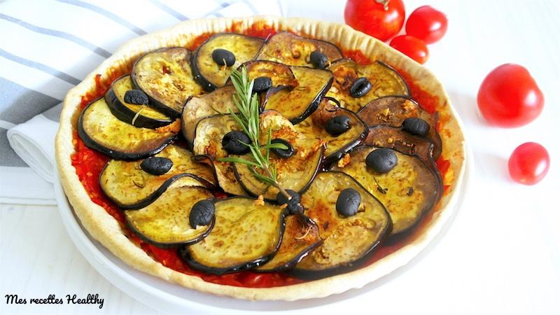 recette-tarte-confit-tomate-tomates cerises-tomate cerise-facile-healthy-sans beurre-sans lait-olive noire-romarin-aubergine-aubergines