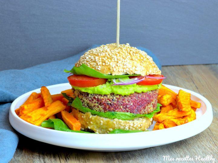 burger végétarien-recette-vegetarien-steak vegetarien-betterave-burger-hamburger