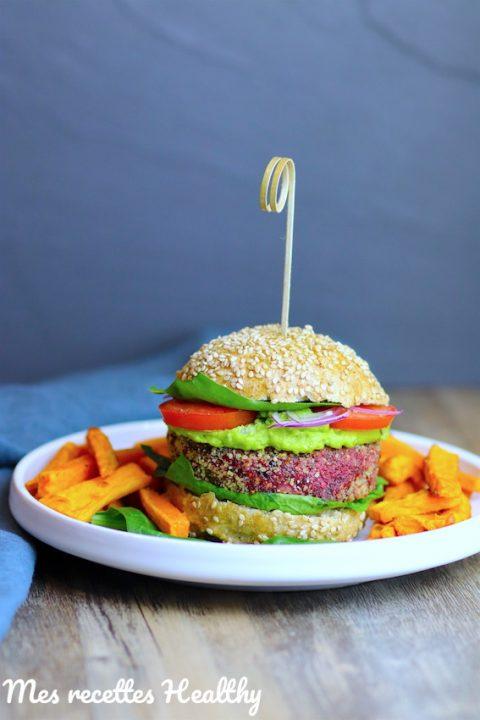 Burger végétarien et son steak de betterave