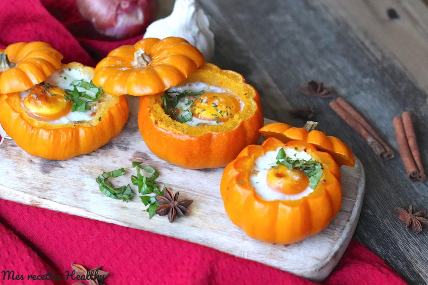 Oeuf cocotte et courge Jack be little