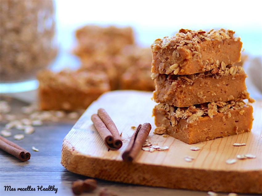 Brownie à la patate douce et croûte de granola