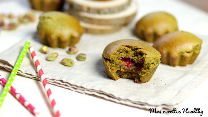 Muffin vegan pistache et framboise