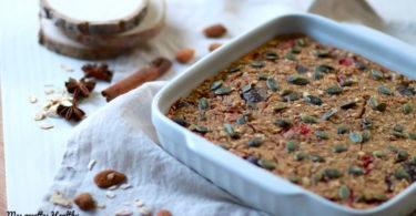 Porridge au four à la figue et céréales vegan