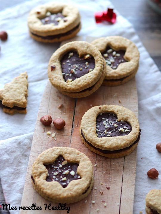 recette-gateau-biscuit-sablé-biscuit sablé-Noël-chocolat-ganache-banane-sans beurre-sans lait