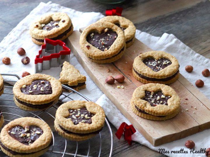 Biscuit sablé à la banane et son coeur de chocolat